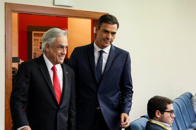 Pedro Sánchez se reúne con el presidente de Chile, Sebastián Piñera