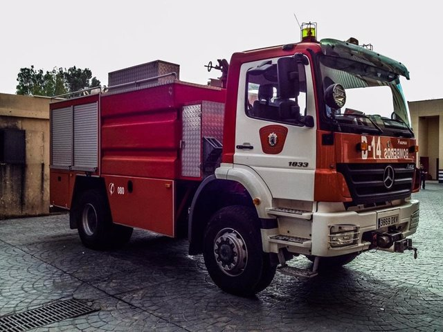 Camión de bomberos de Melilla