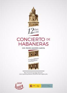 Cartel del concierto de Habaneras