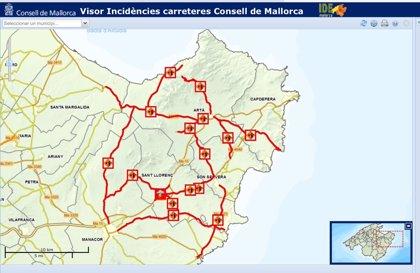 Mapa Carreteras De Mallorca.Reabiertas Varias Carreteras Cortadas Al Trafico Debido A Las Inundaciones En El Llevant De Mallorca