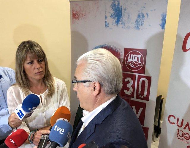 Baltasar Garzón antes de participar en un acto en Valladolid, 10-10-18