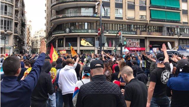Ultras protagonizan incidentes en el 9 d'Octubre