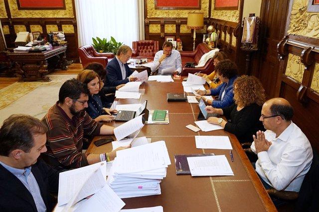 Reunión de la Junta de Gobierno del Ayuntamiento de Valladolid. 10-10-18