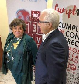 Cristina Almeida y Baltasar Garzón acuden a las Jornadas, 10-10-18