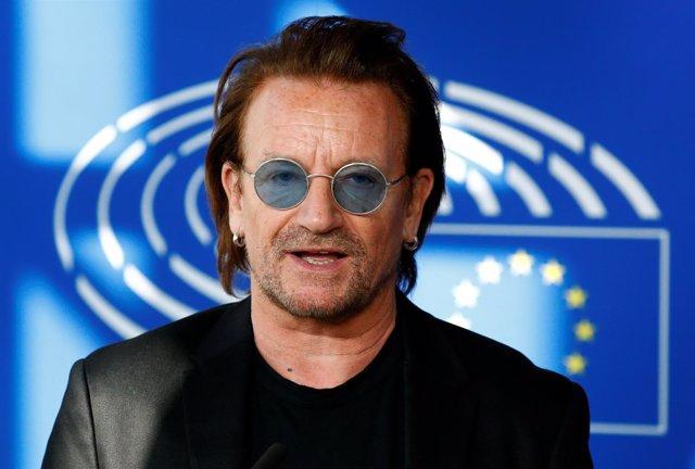 Bono en el Parlamento Europeo en Bruselas