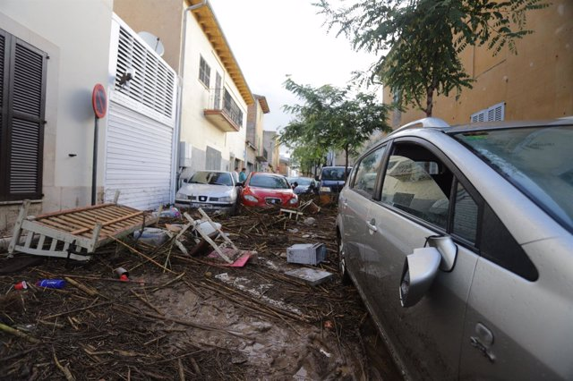 Imágenes de Sant Llorenç (Mallorca) tras la muerte de al menos cuatro personas p