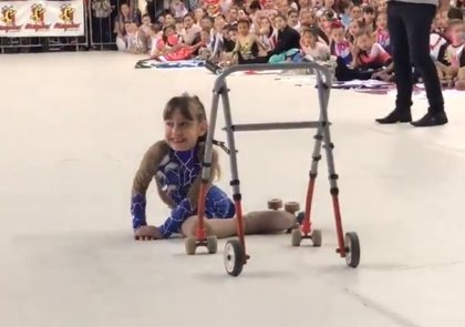 Difunden un conmovedor vídeo de una niña que, sin pierna, compite en los Juegos Olímpicos de la Juventud en Buenos Aires