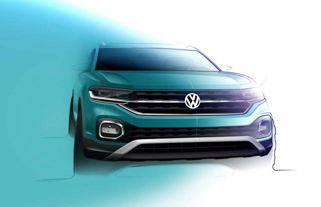 Dibujo del T-Cross que fabricará Volkswagen Navarra.
