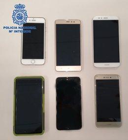 Móviles robados en Cáceres