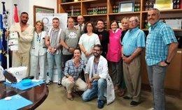 Asistentes al primer taller para hombres de la Fundación Stanpa
