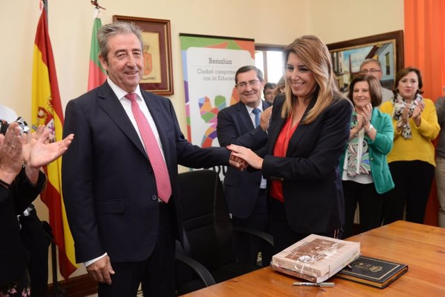 Susana Díaz, este miércoles en Benalúa (Granada)