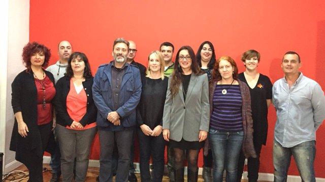 Foto de cabezas de lista de IU en muncipios de la Comunidad de Madrid