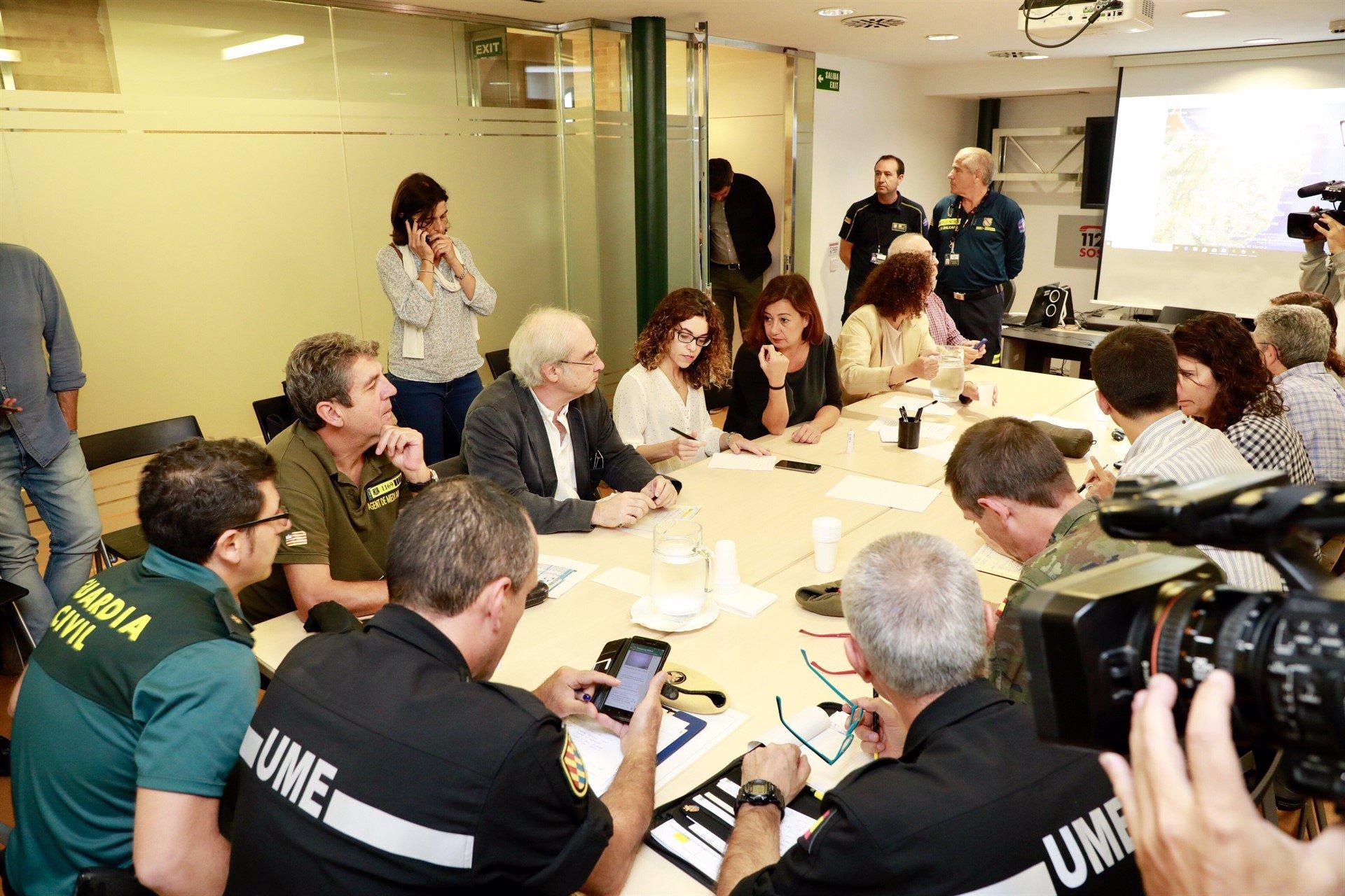 Armengol traslada su apoyo 'absoluto' a las familias de víctimas mortales y desaparecidos en el Llevant de Mallorca