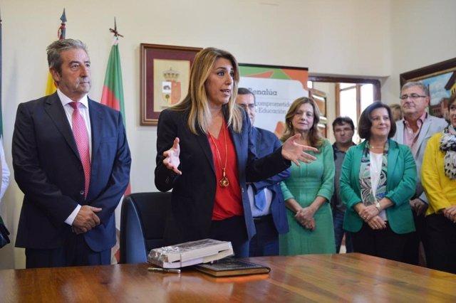 Susana Díaz, en un acto en Benalúa