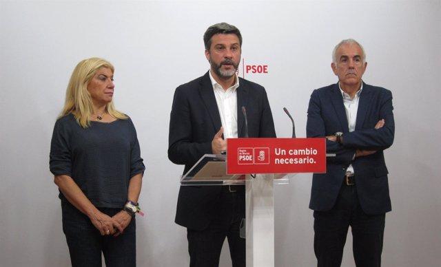 Joaquín López, Gloria Alarcón y Martínez Baños