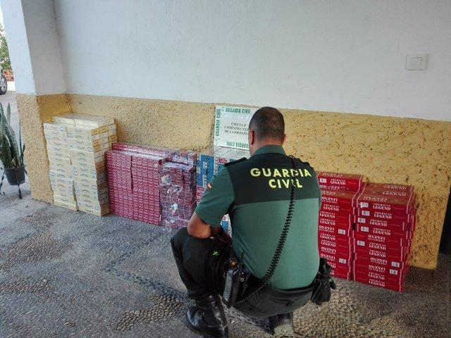 Tabaco de contrabando incautado