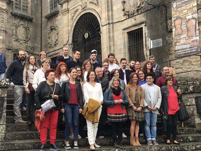 Carolina Bescansa presenta a su equipo en Santiago