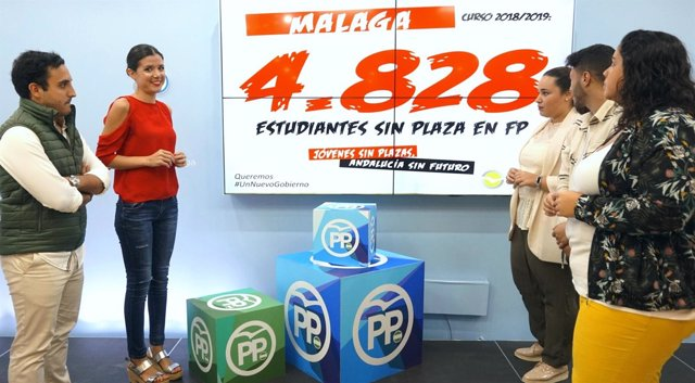Caetano (NNGG Málaga) presenta campaña sobre FP