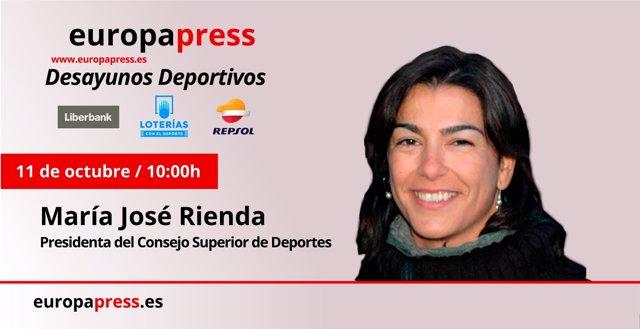 María José Rienda, presidenta del Consejo Superior de Deportes (CSD)