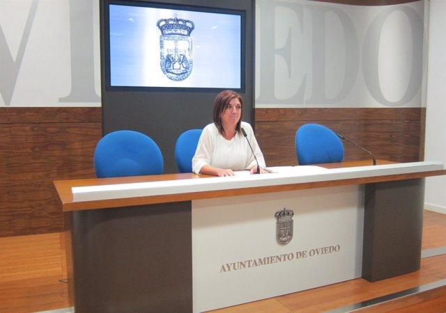 Belén Fernández Acevedo, durante la rueda de prensa.