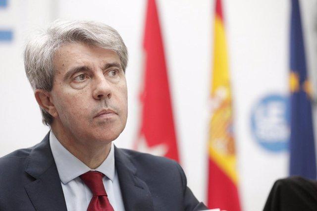 El presidente de la Comunidad de Madrid, Ángel Garrido, en Bruselas