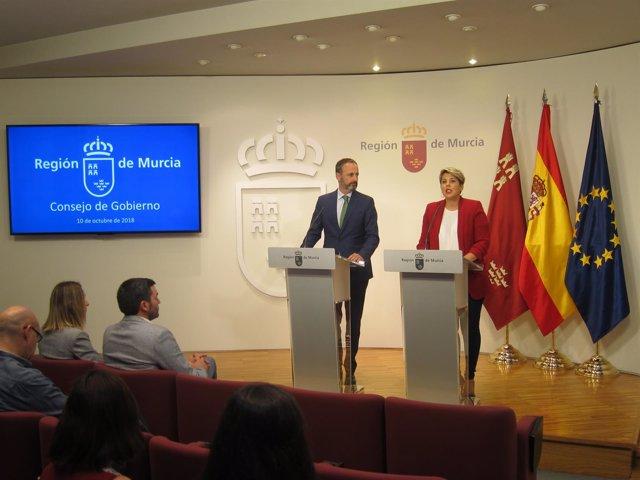Imagen de la rueda de prensa del Consejo de Gobierno