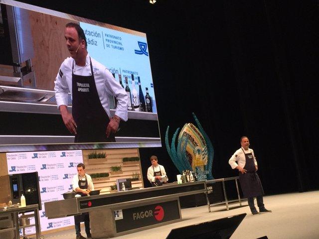 El chef Ángel Leon en el 'San Sebastián Gastronomika'