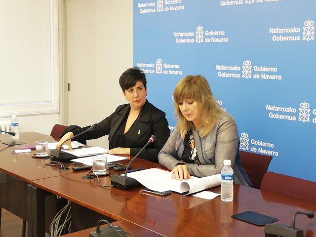 María Solana (i) y Ana Ollo, consejeras del Gobierno de Navarra.