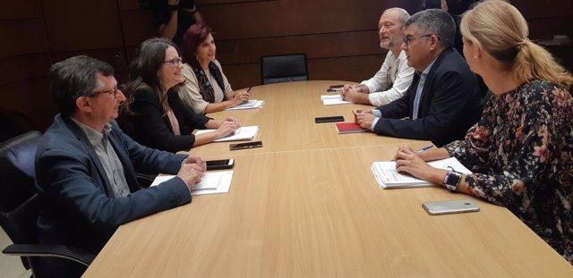Reunión entre Monica Oltra y Juan Carlos Fulgencio