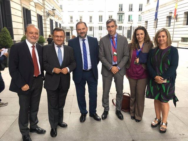 PSOE diputados con alcalde benalamdena y abalos