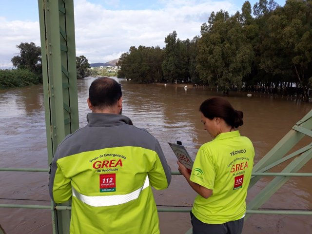 Lluvias intensas en Málaga