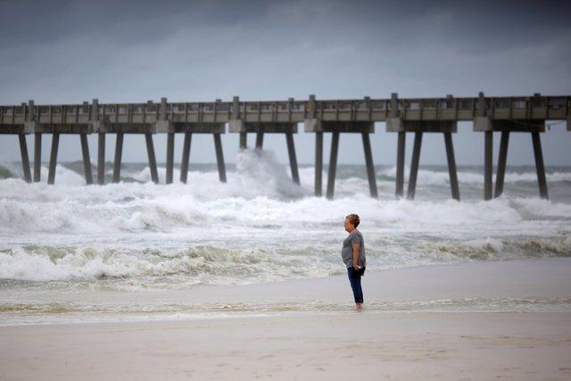 Costa de Pensacola antes de la llegada del huracán 'Michael'