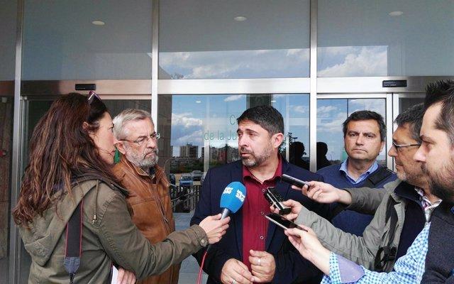 Martínez Ávila (CSSP) tras salir del juzgado