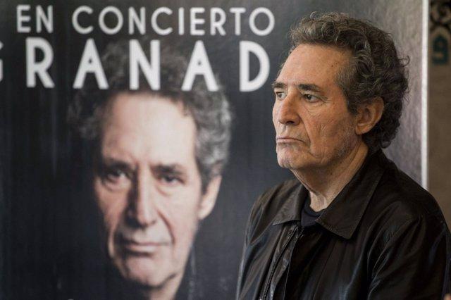 En Granada, rueda de prensa de Miguel Ríos para presentar el concierto
