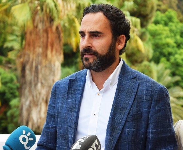 El portavoz municipal del PSOE en Málaga, Daniel Pérez,
