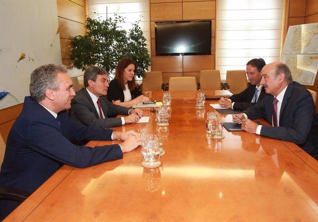 Reunión entre el Gobierno de Cantabria y el Ministerio de Fomento