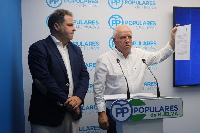 El portavoz del PP en el Ayuntamiento de Alosno, Pedro Ingles.