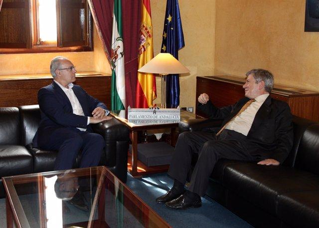 Durán y Barón, reunidos en el Parlamento andaluz