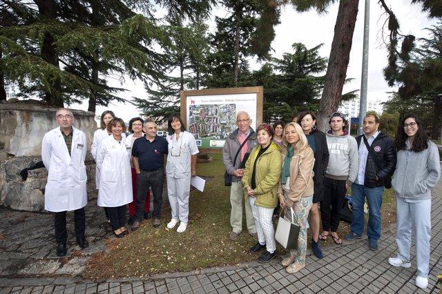 Merino, Soria, Zelaya y Sorbet junto a participantes del proyecto