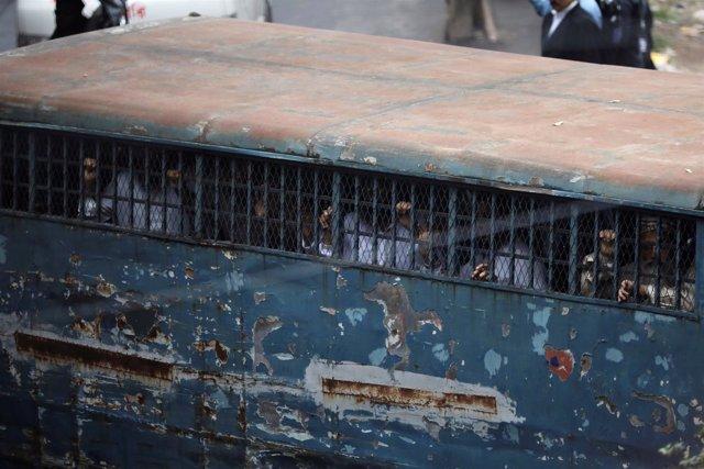 Acusados en el juicio en Bangladesh por el atentado en 2004 contra Sheij Hasina