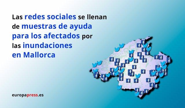 Las redes se vuelcan con los afectados por las inundaciones en Mallorca