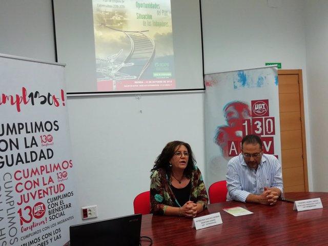 Secretaria general UGT Extremadura, Patro Sánchez
