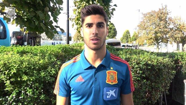 El jugador internacional español Marco Asensio