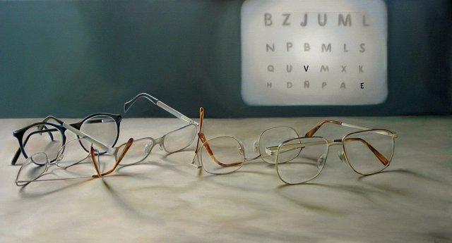 Miopía. Gafas para ver. Miope.