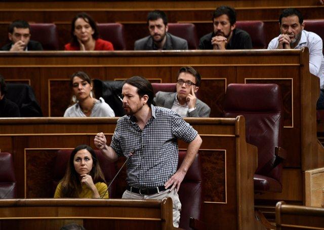 Pablo Iglesias en la sesión de control