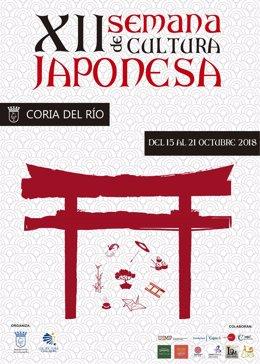 Cartel de la Semana de Cultura Japonesa 2018 de Coria del Río