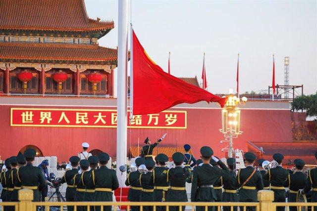 Militares chinos durante las celebraciones de la Semana Comunista