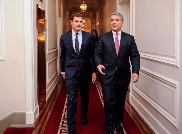 Albert Rivera e Iván Duque