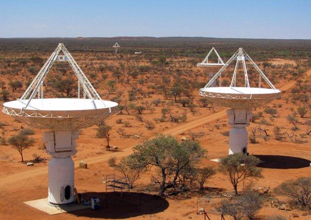Antenas del observatorio ASKAP
