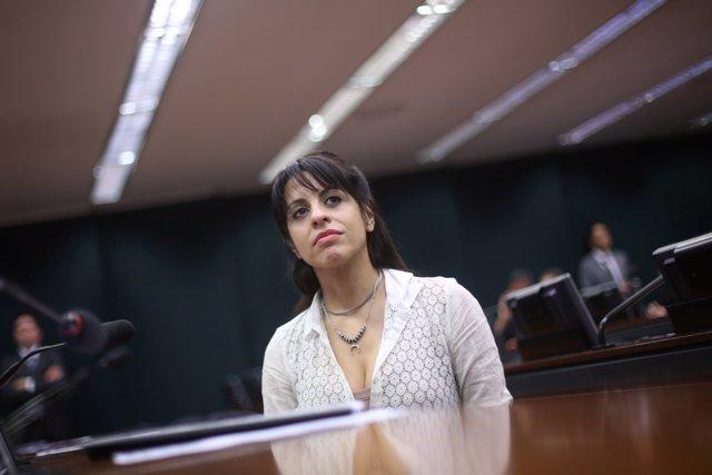 La diputada argentina Victoria Donda, hija de detenidos-desaparecidos